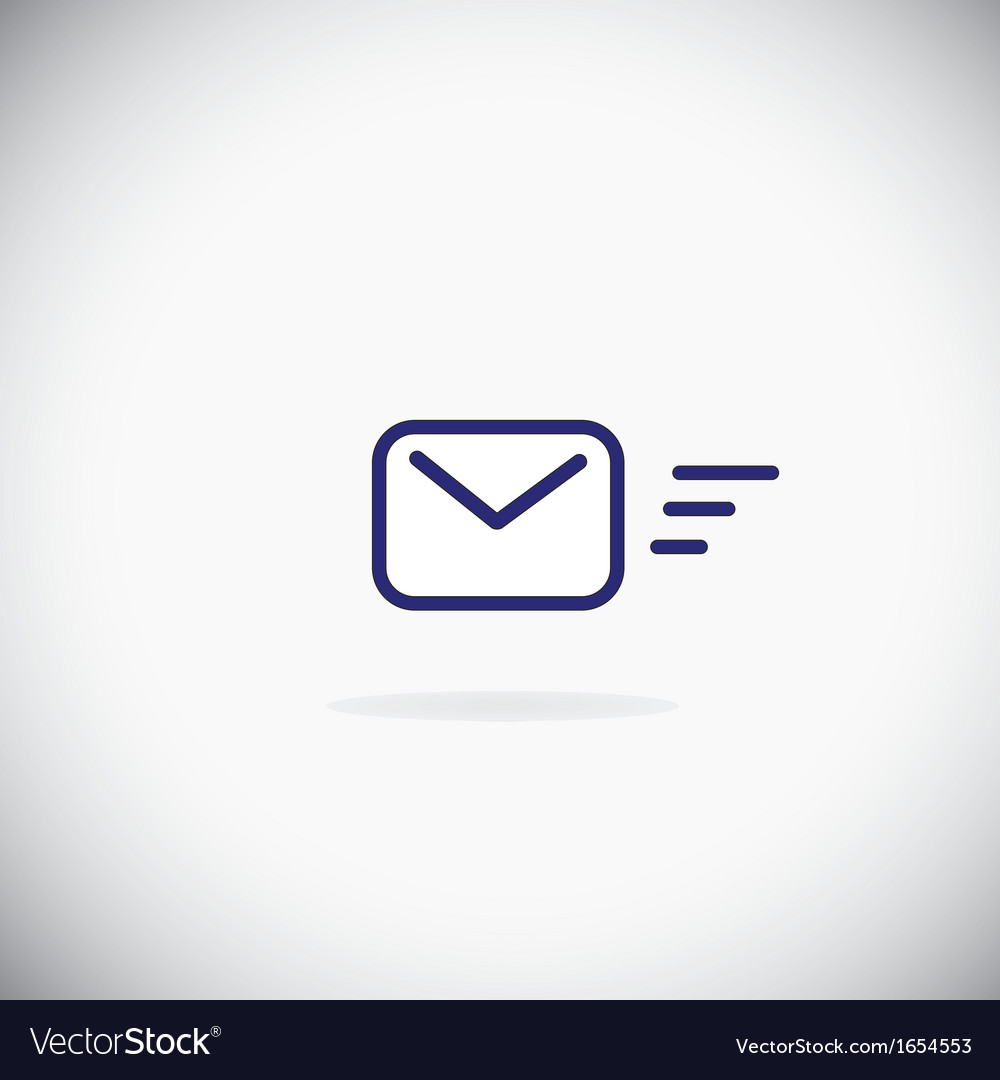 Sending message icon vector | Price: 1 Credit (USD $1)