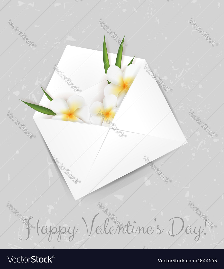 Valentine plumeria envelope vector | Price: 1 Credit (USD $1)