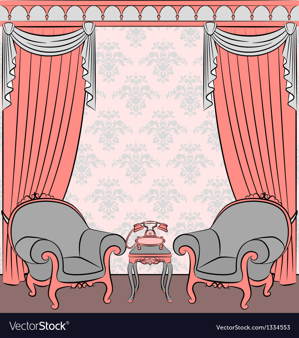 Vintage furniture vector | Price: 1 Credit (USD $1)