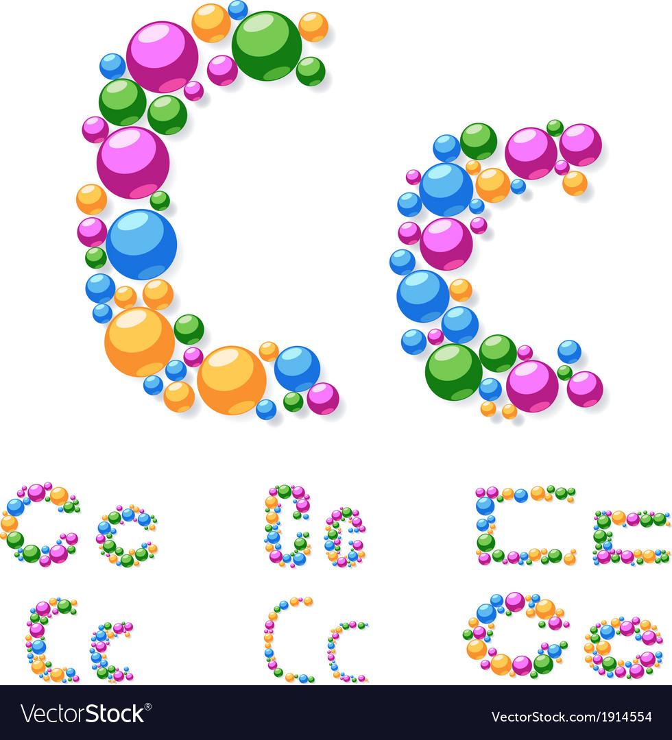Alphabet symbols of colorful bubbles or balls vector | Price: 1 Credit (USD $1)