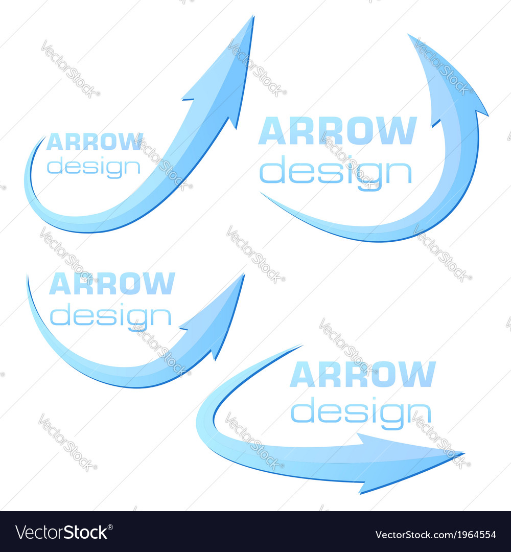 Arrow design template - blue - ready to use vector | Price: 1 Credit (USD $1)