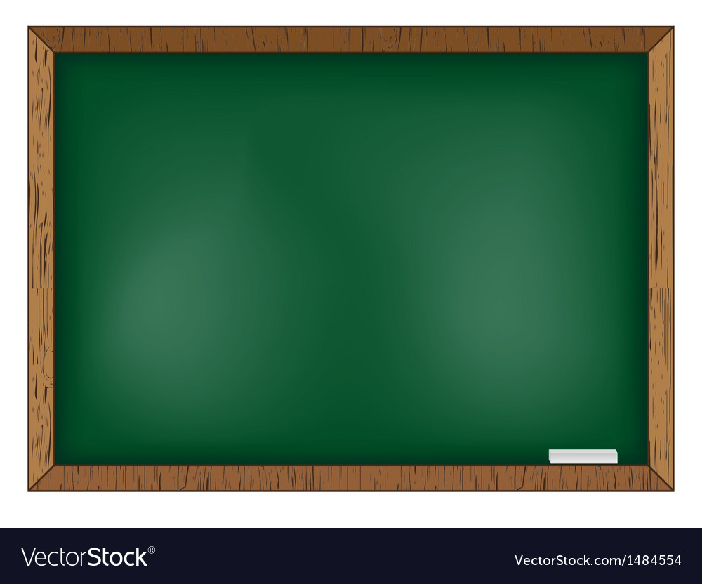 Blackboard on wooden background vector | Price: 1 Credit (USD $1)