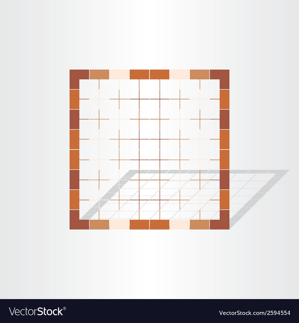 Brown cage grid design element vector | Price: 1 Credit (USD $1)