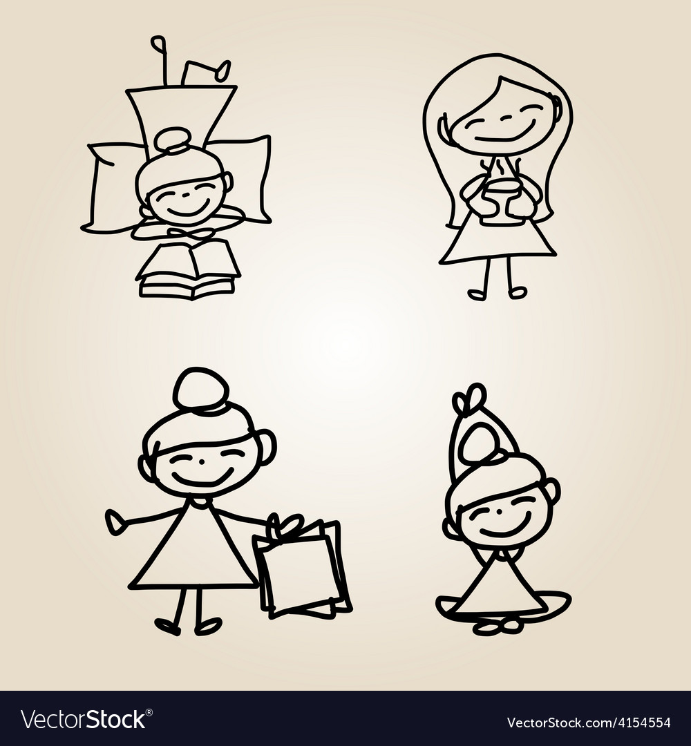 Cartoon character happy people vector | Price: 1 Credit (USD $1)