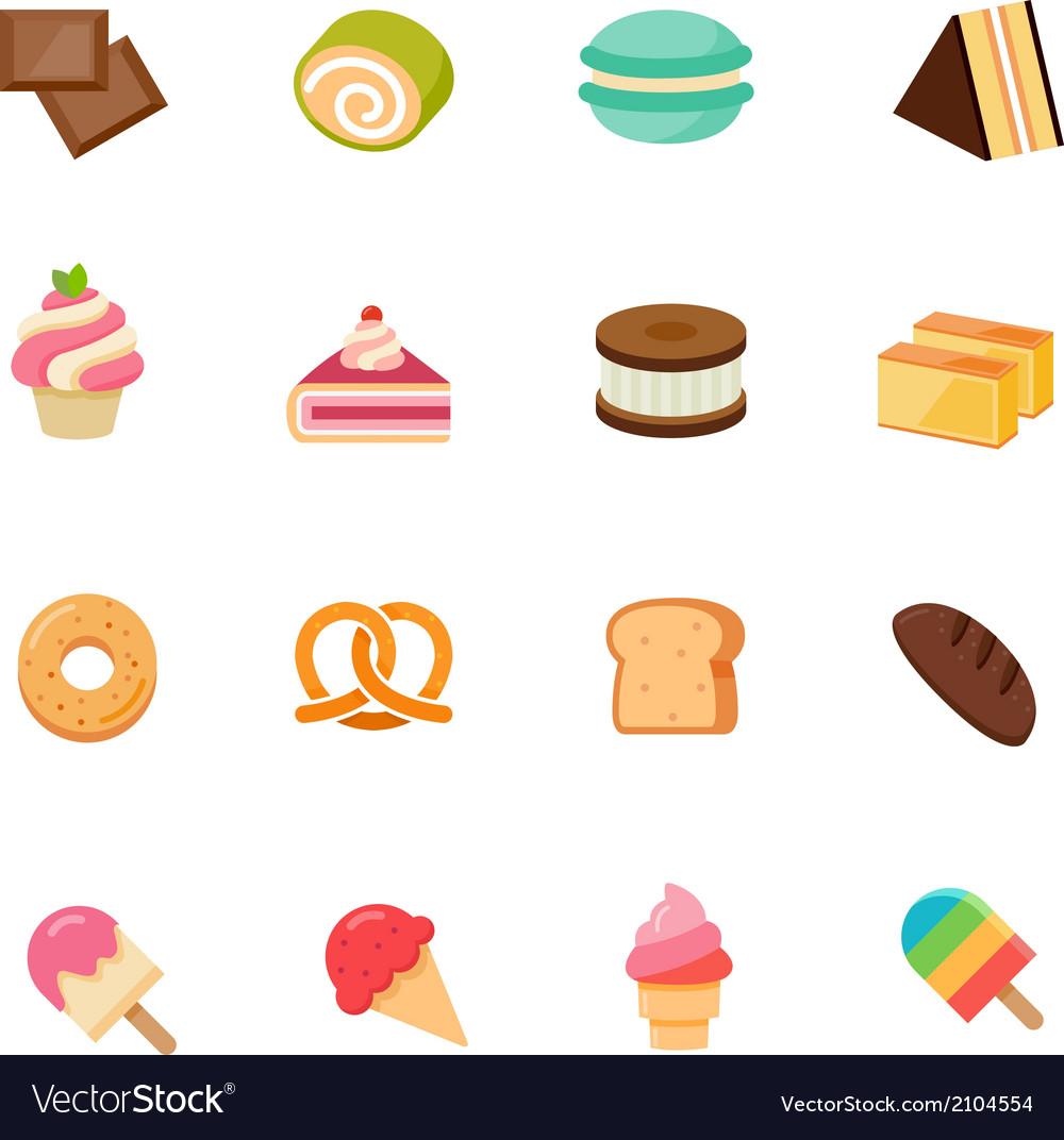 Dessert icon full color flat icon design vector | Price: 1 Credit (USD $1)