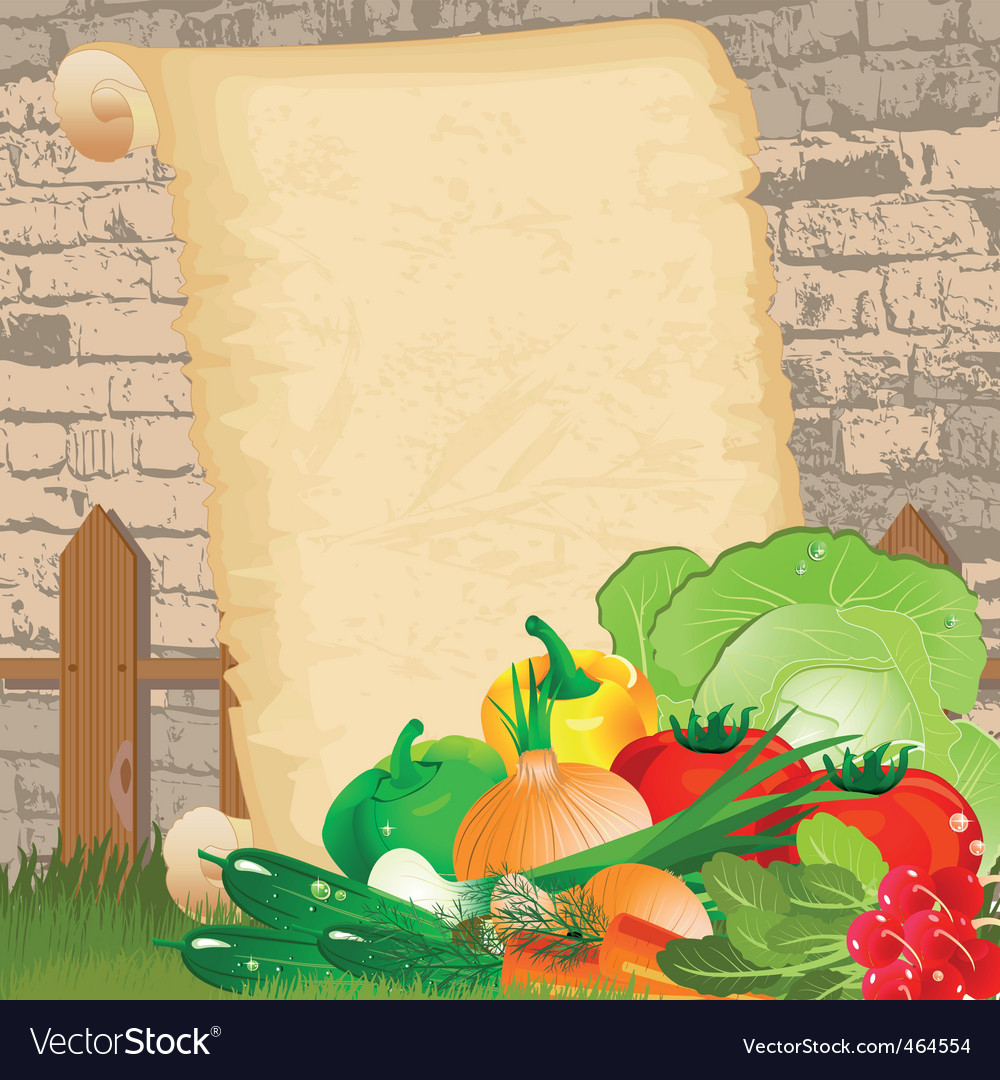 Dietary menu on paper grunge vector | Price: 3 Credit (USD $3)