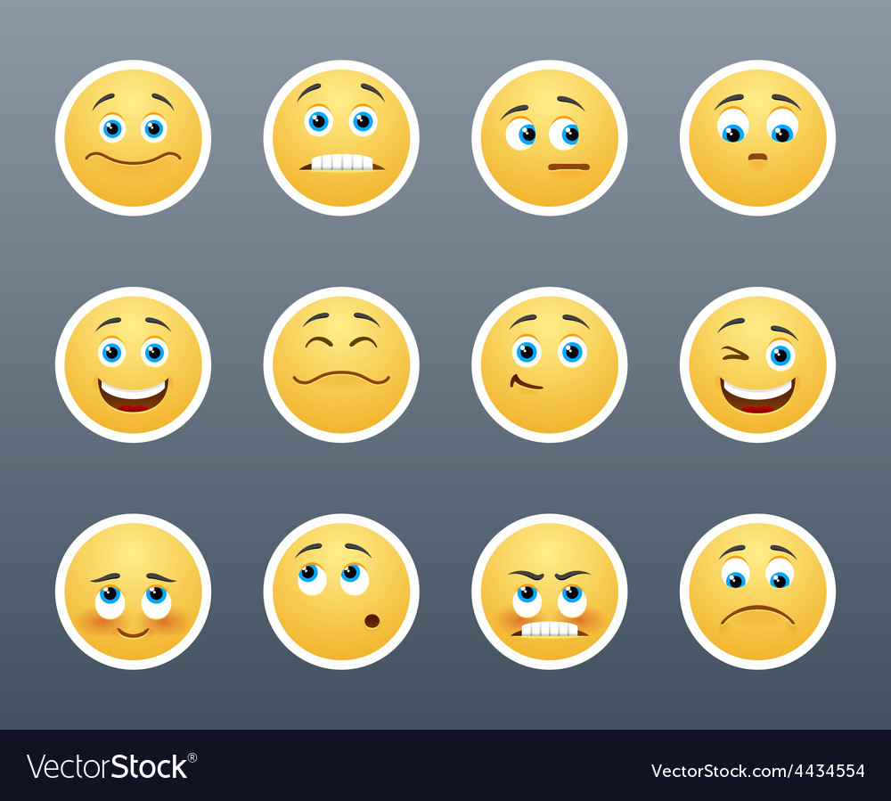 Emotional stickers vector | Price: 1 Credit (USD $1)
