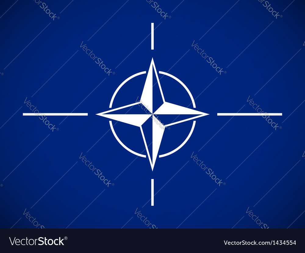 Flag of the north atlantic treaty organization vector | Price: 1 Credit (USD $1)
