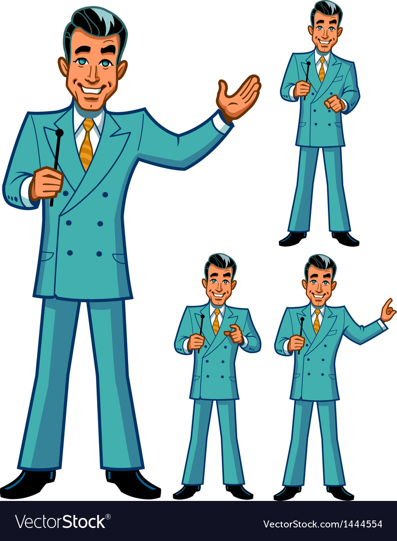 Game show host poses vector | Price: 1 Credit (USD $1)