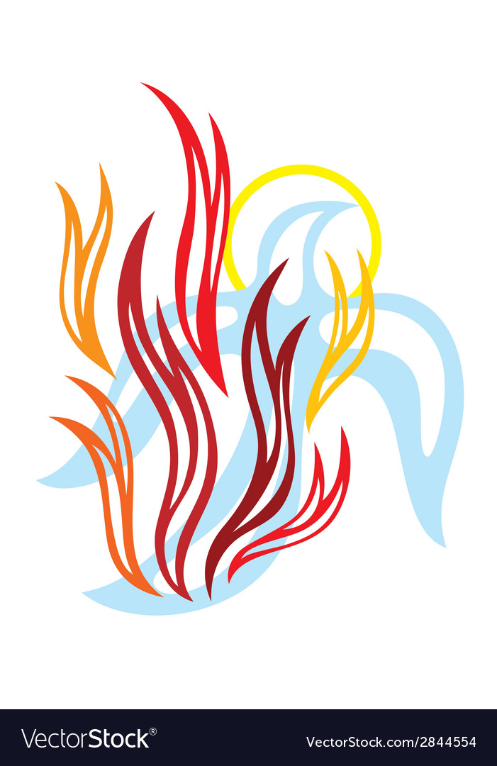 Holy spirit fire vector | Price: 1 Credit (USD $1)