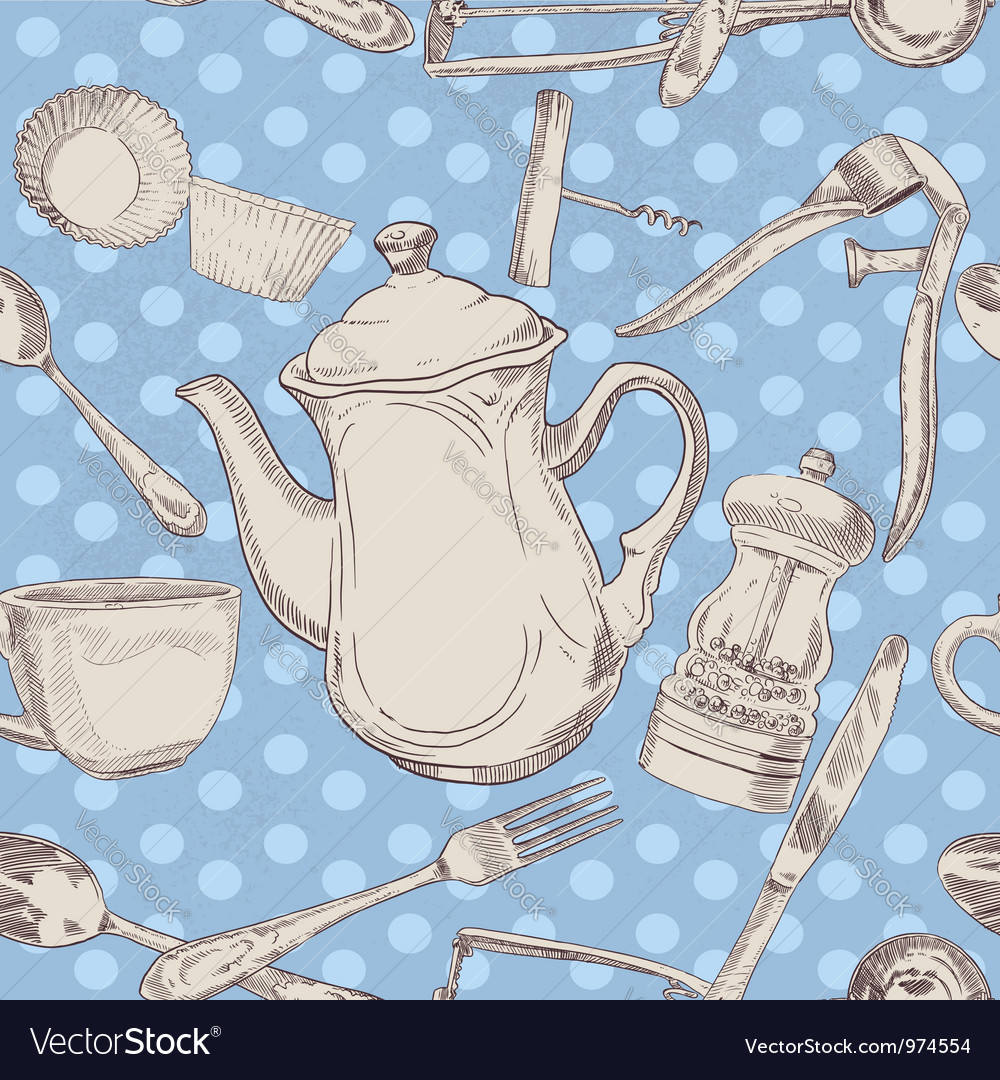 Kitchen utensils vintage vector | Price: 1 Credit (USD $1)