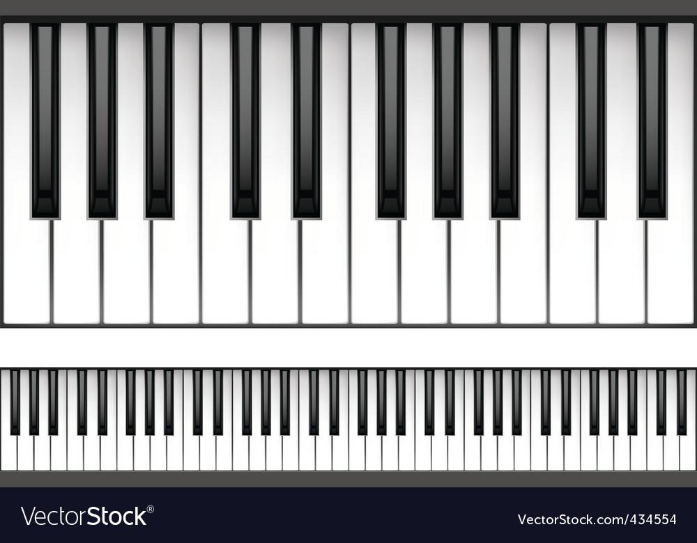 Piano keyboard vector | Price: 1 Credit (USD $1)