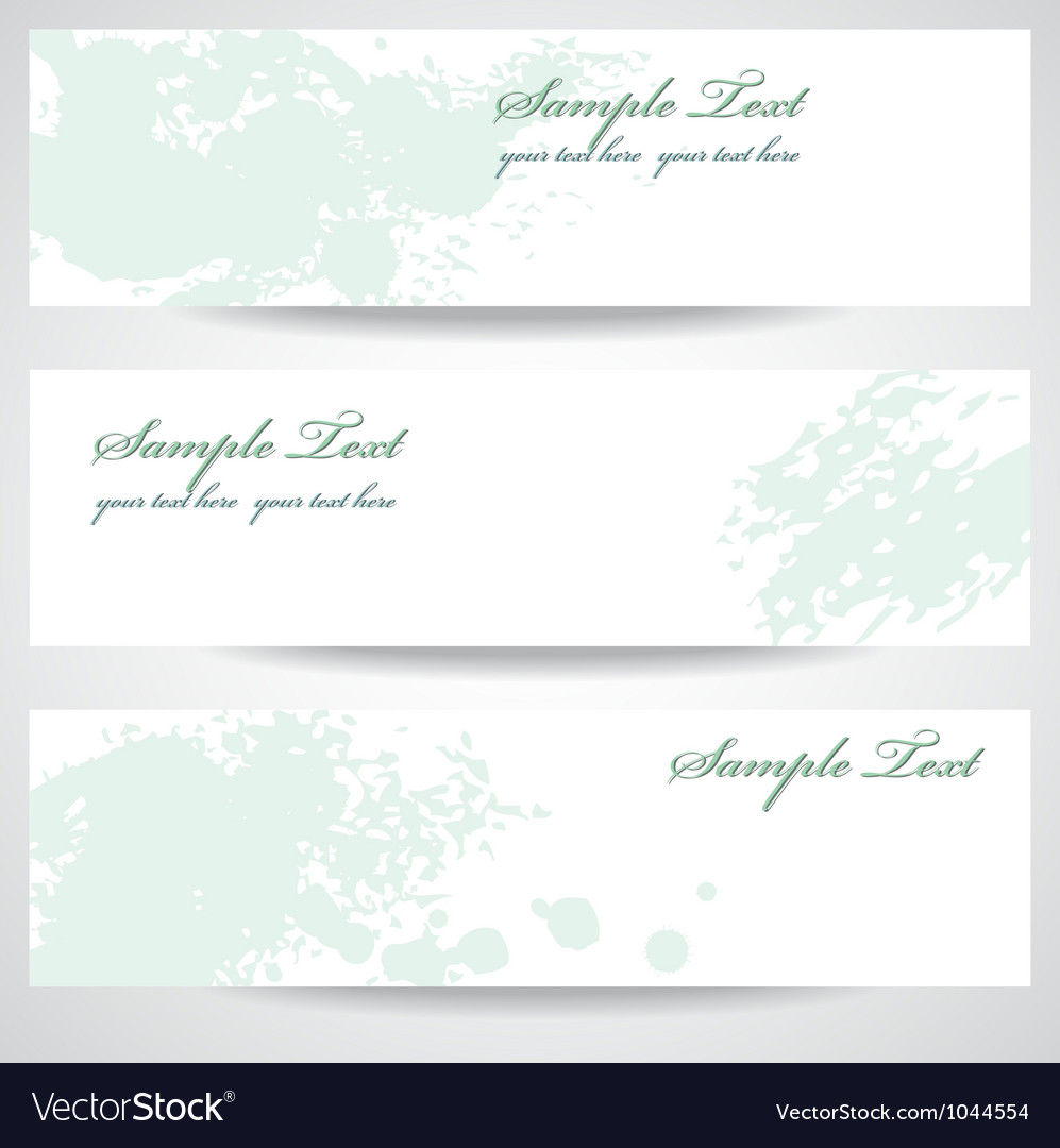 Set abstract banners vector | Price: 1 Credit (USD $1)