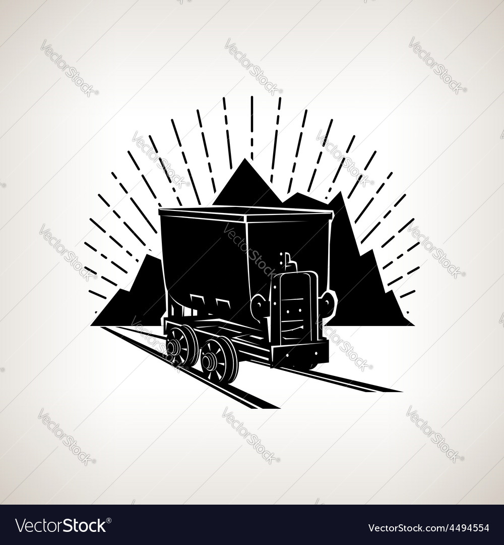Silhouette coal mine trolley vector | Price: 1 Credit (USD $1)