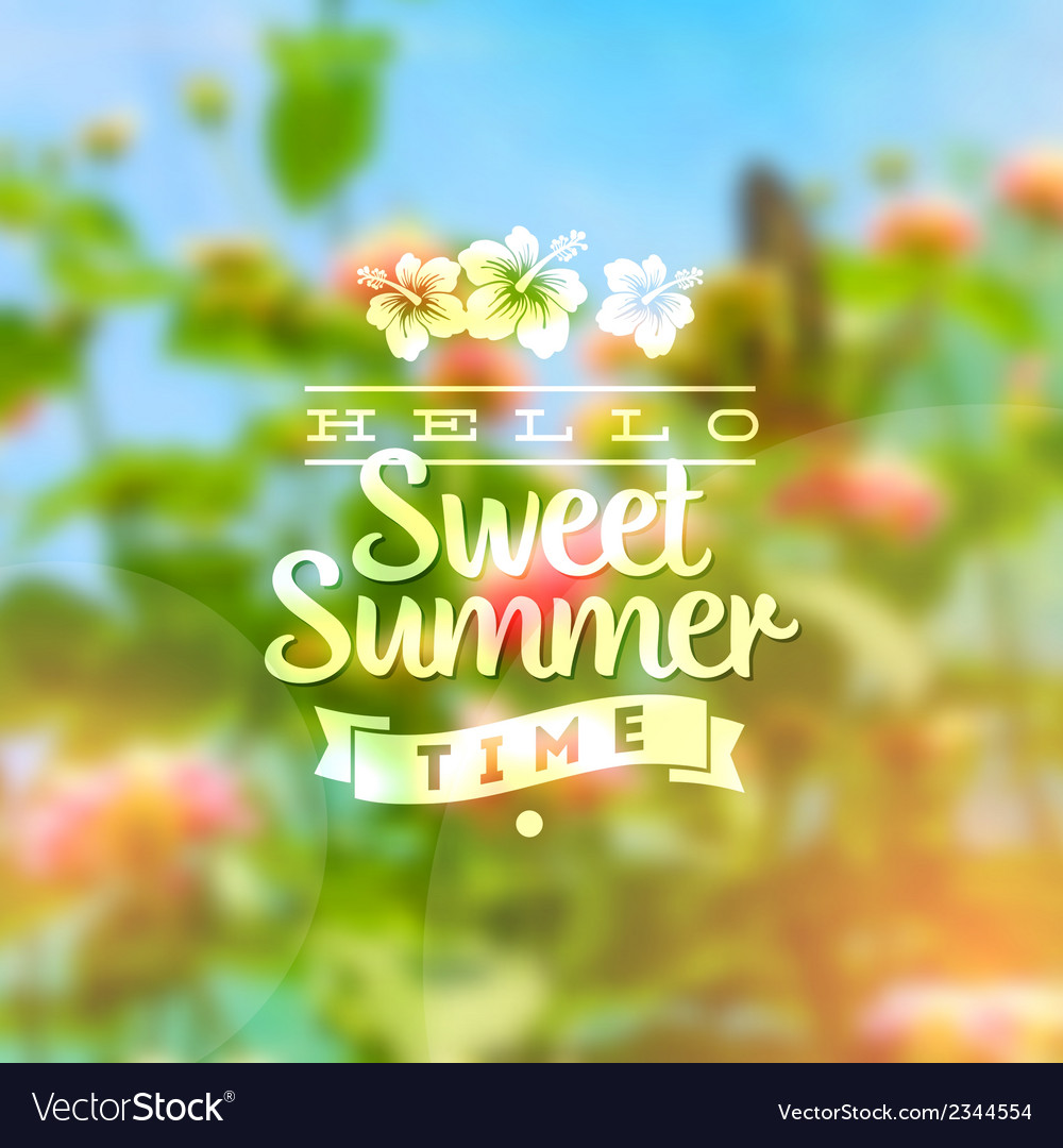 Summer holidays type design vector | Price: 1 Credit (USD $1)