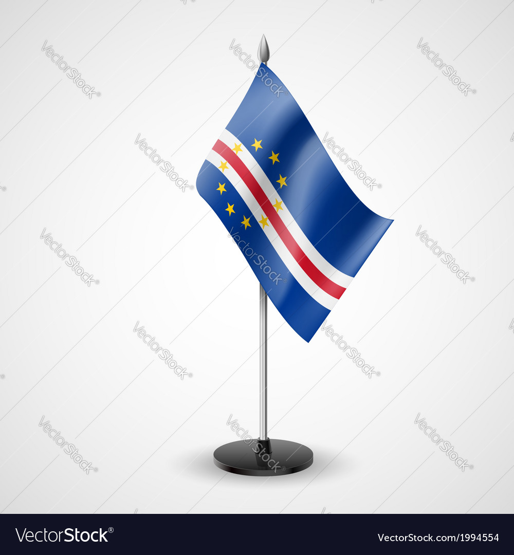 Table flag of cape verde vector | Price: 1 Credit (USD $1)