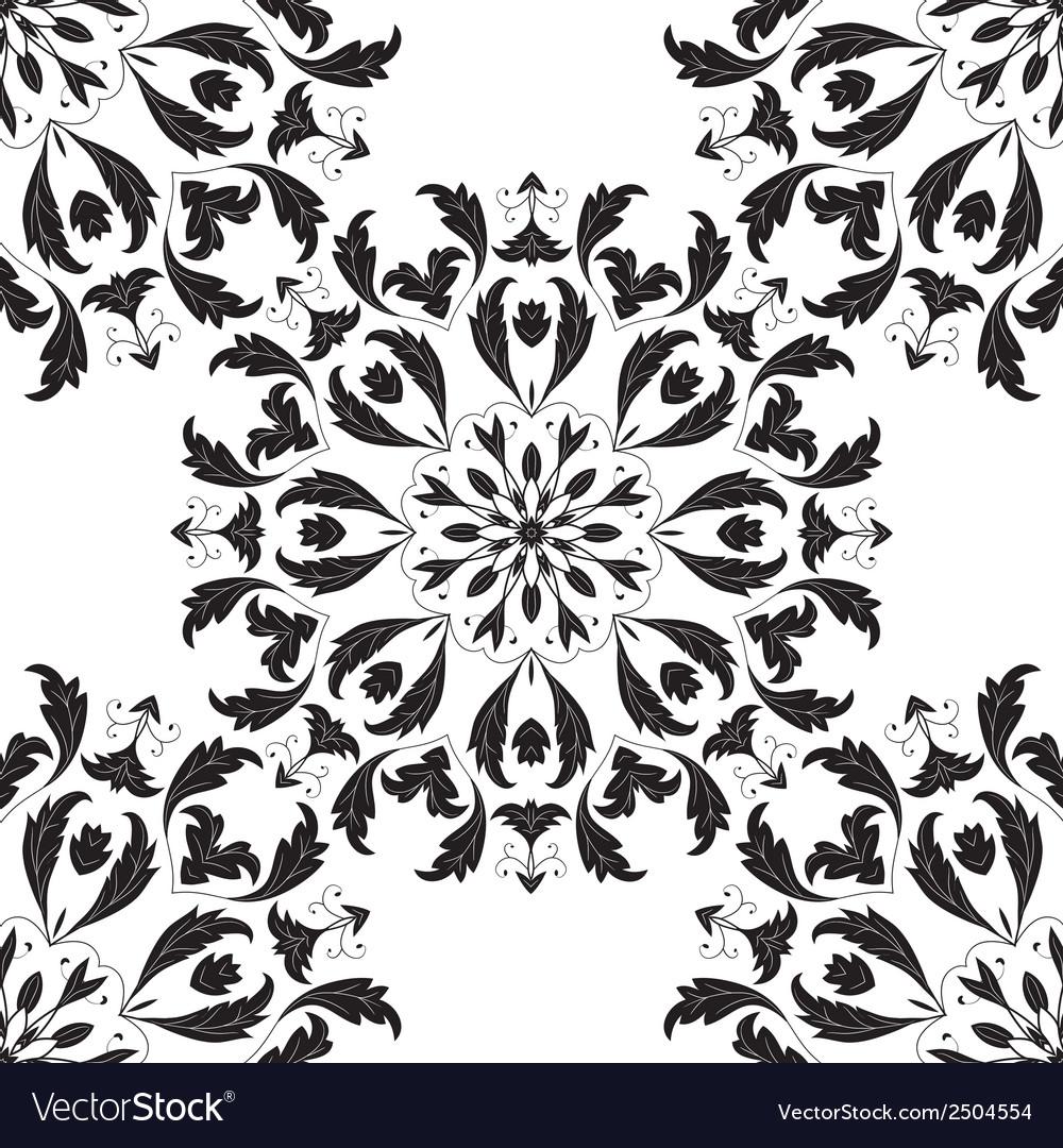 Tree seamless pattern vector | Price: 1 Credit (USD $1)
