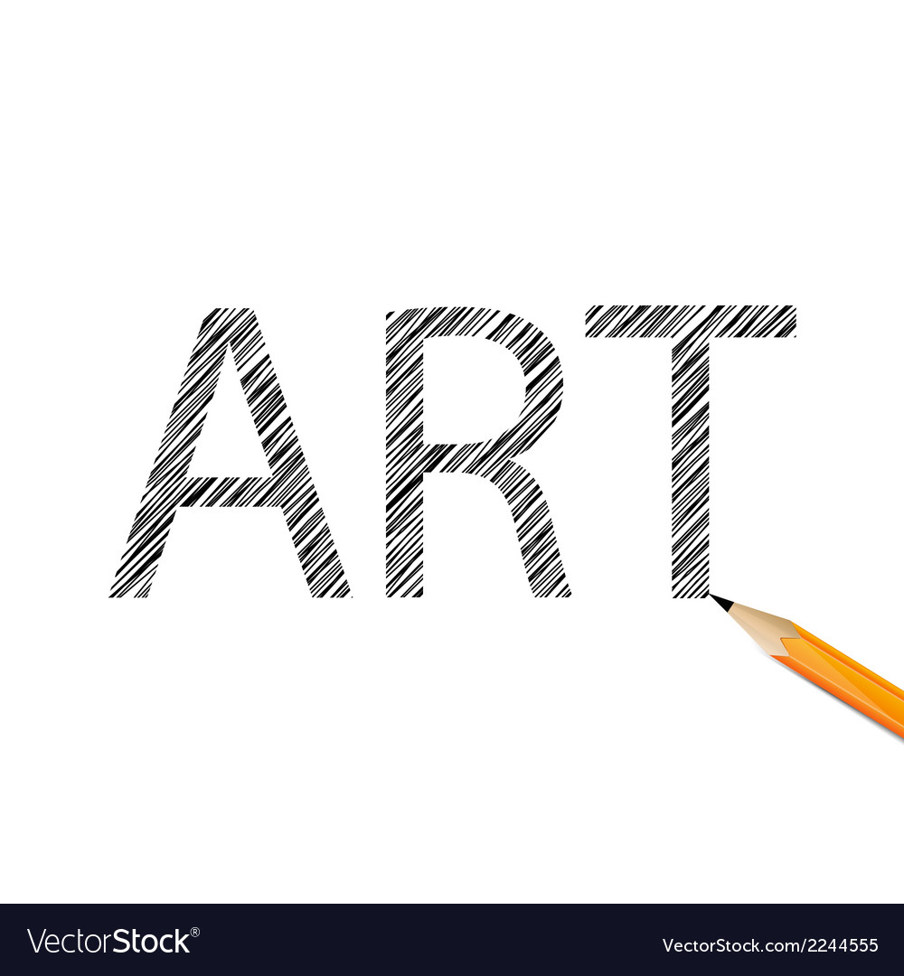 Art word drawn with graphite pencil vector | Price: 1 Credit (USD $1)