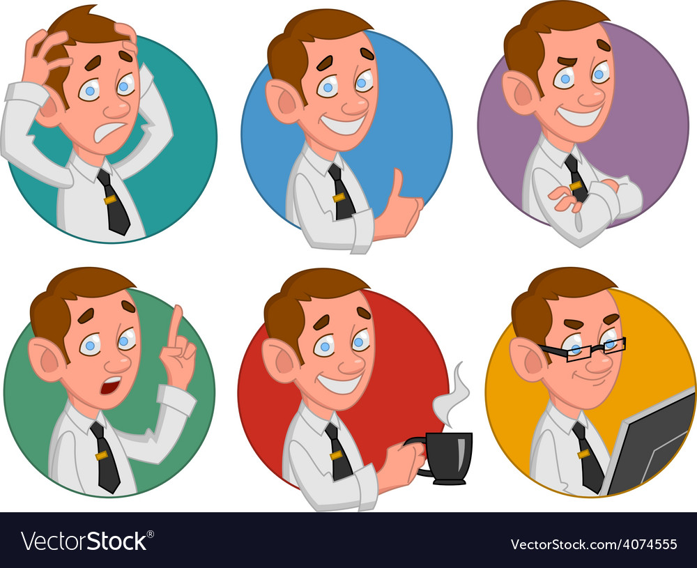 Avatars of office worker vector | Price: 1 Credit (USD $1)