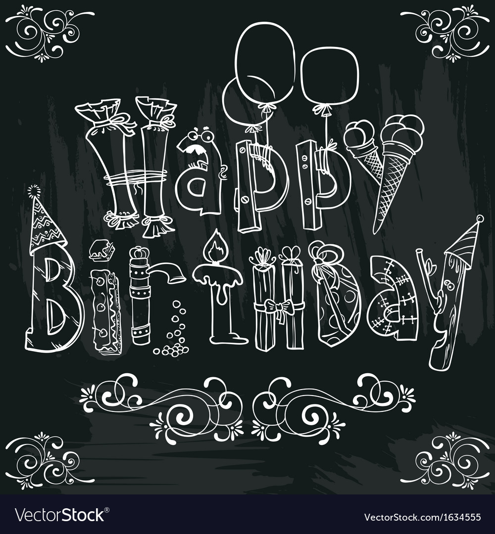 Birthday lettering vector | Price: 1 Credit (USD $1)