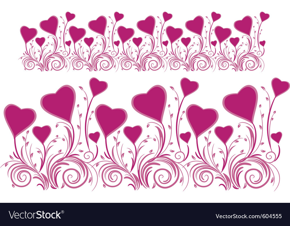 Border of stylized hearts for design vector | Price: 1 Credit (USD $1)