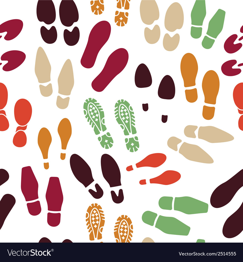 Foot print packground vector | Price: 1 Credit (USD $1)