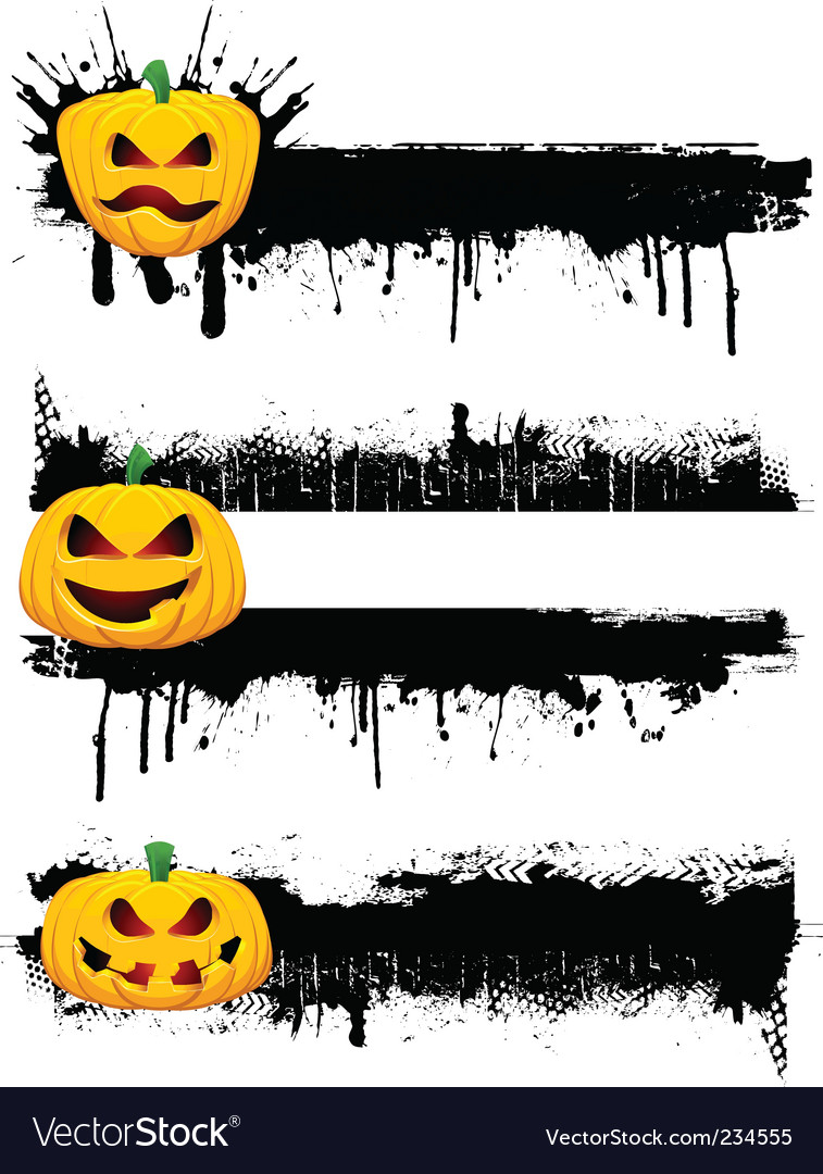 Grunge halloweenborders vector | Price: 3 Credit (USD $3)
