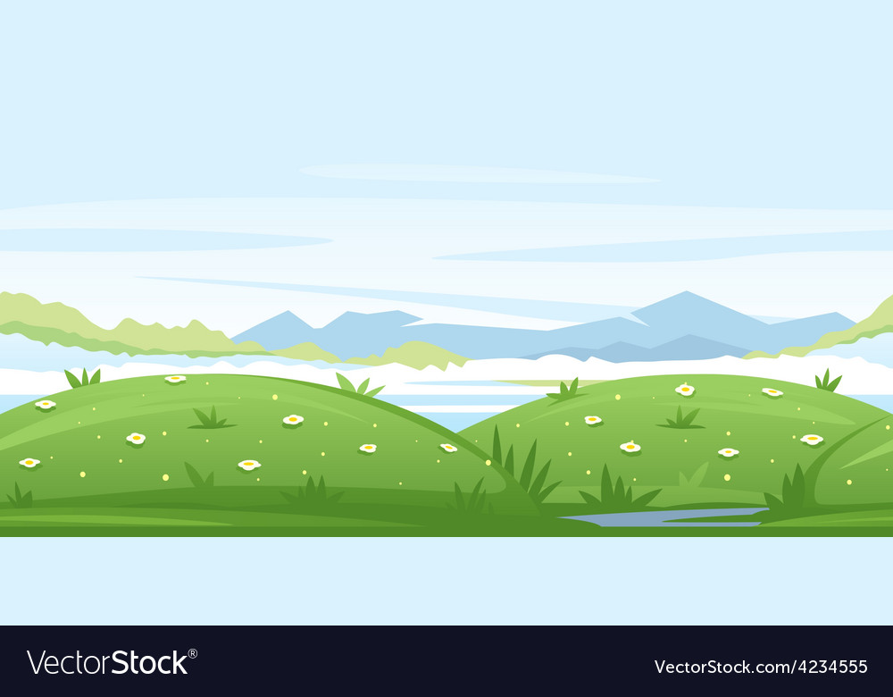 Meadows game background vector | Price: 3 Credit (USD $3)