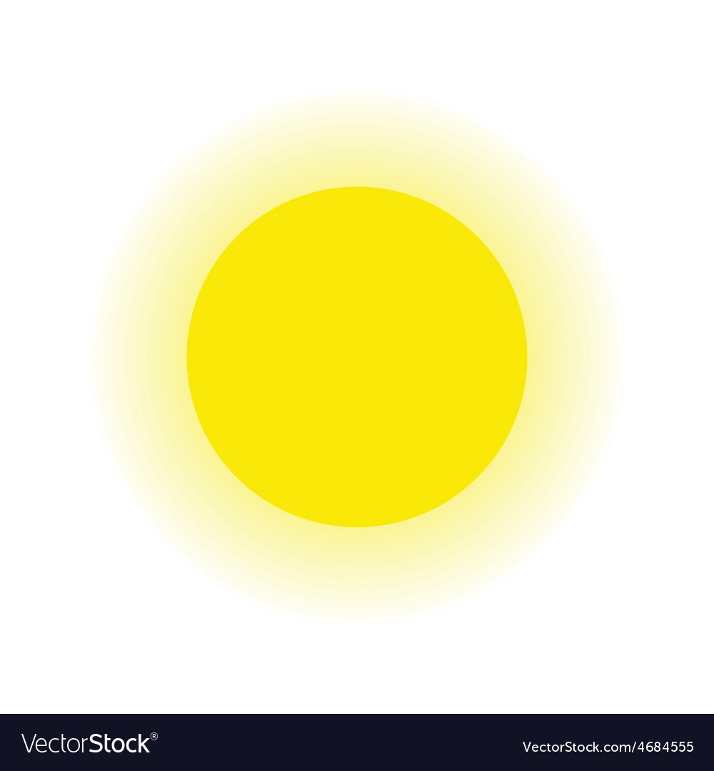 Sun and ray isolated white background vector   Price: 1 Credit (USD $1)