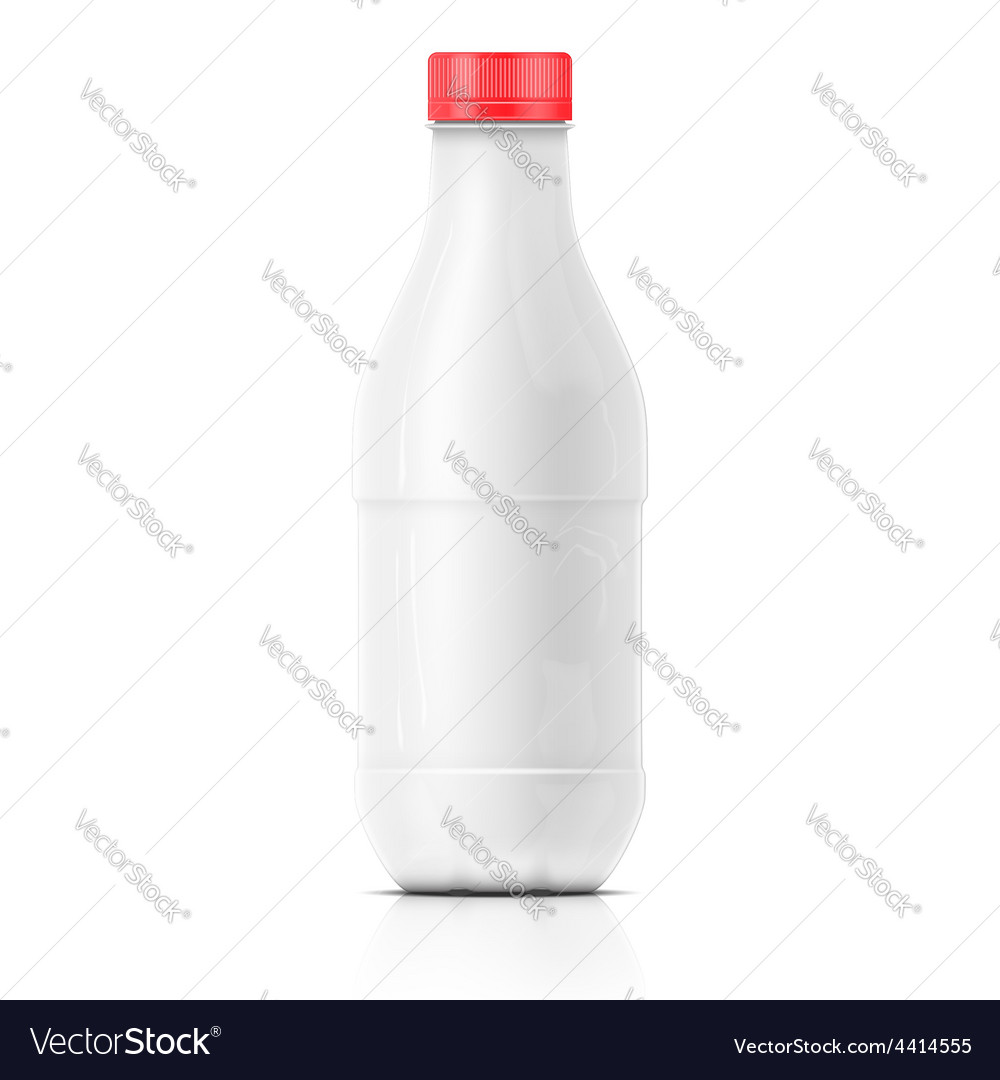White milk plastic bottle template vector | Price: 3 Credit (USD $3)