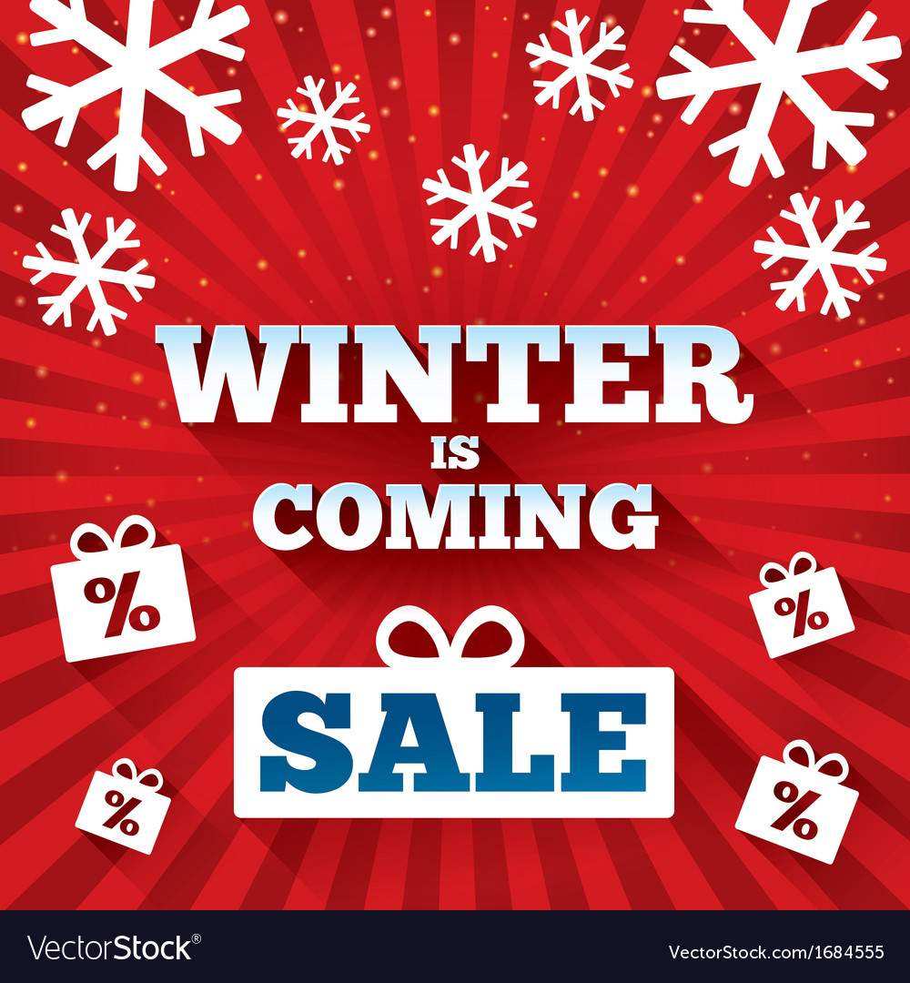 Winter is coming sale background vector   Price: 1 Credit (USD $1)