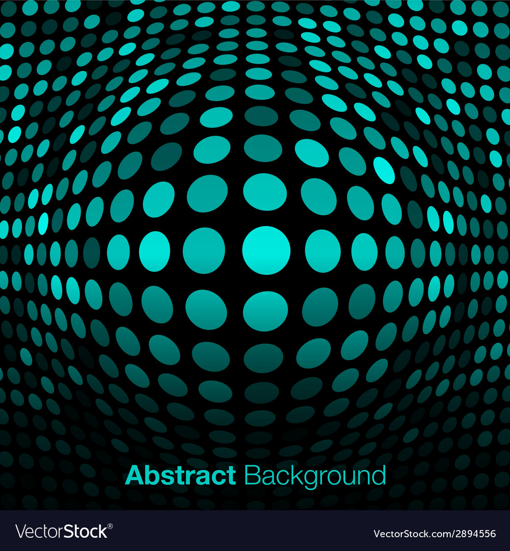 Abstract blue - green technology background vector | Price: 1 Credit (USD $1)