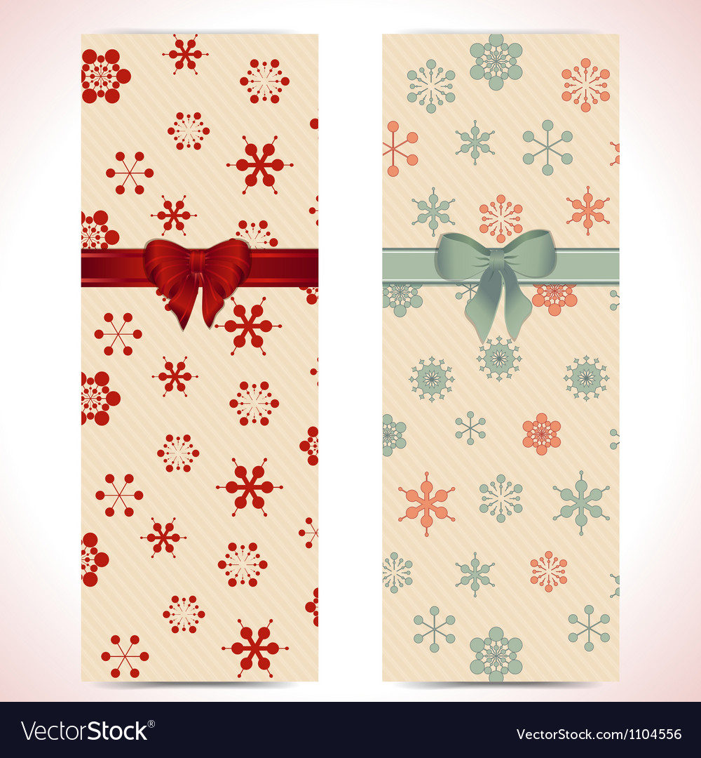 Christmas banner backgrounds and ribbon vector | Price: 1 Credit (USD $1)