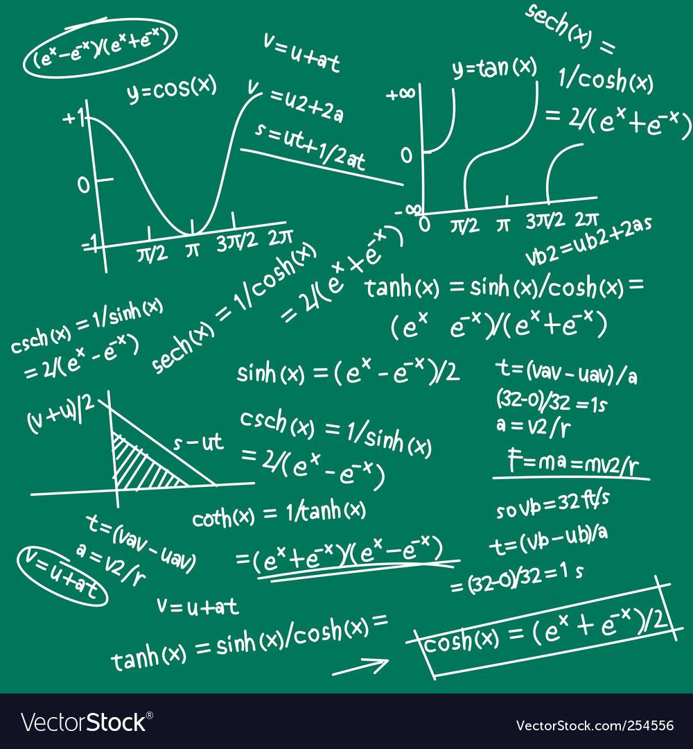 Formula doodle vector | Price: 1 Credit (USD $1)