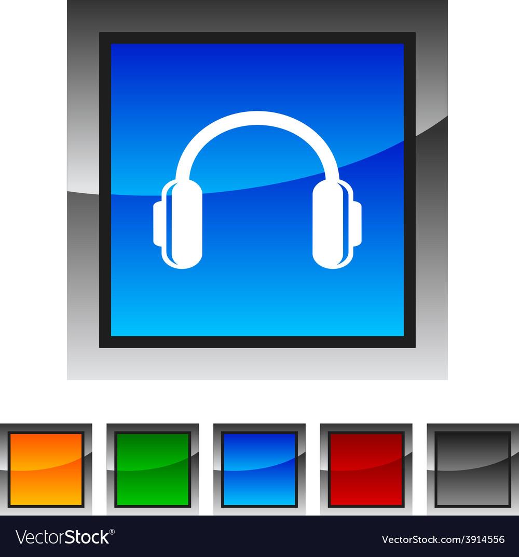 Headphones icons vector | Price: 1 Credit (USD $1)