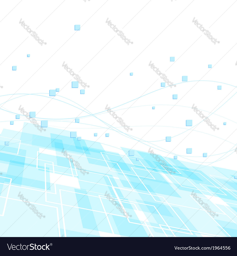 High-tech background template - blue geometry vector | Price: 1 Credit (USD $1)