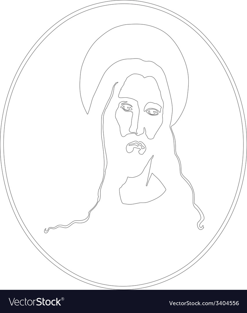 Jesus portrait vector | Price: 1 Credit (USD $1)