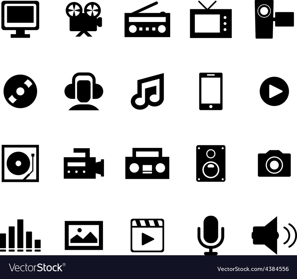 Multimedia icon vector | Price: 1 Credit (USD $1)