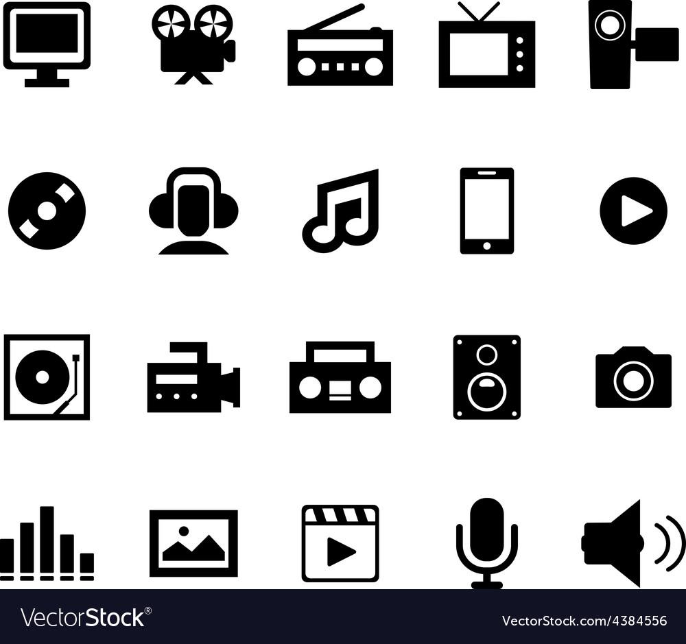 Multimedia icon vector   Price: 1 Credit (USD $1)