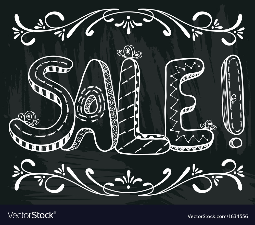 Sale lettering vector | Price: 1 Credit (USD $1)