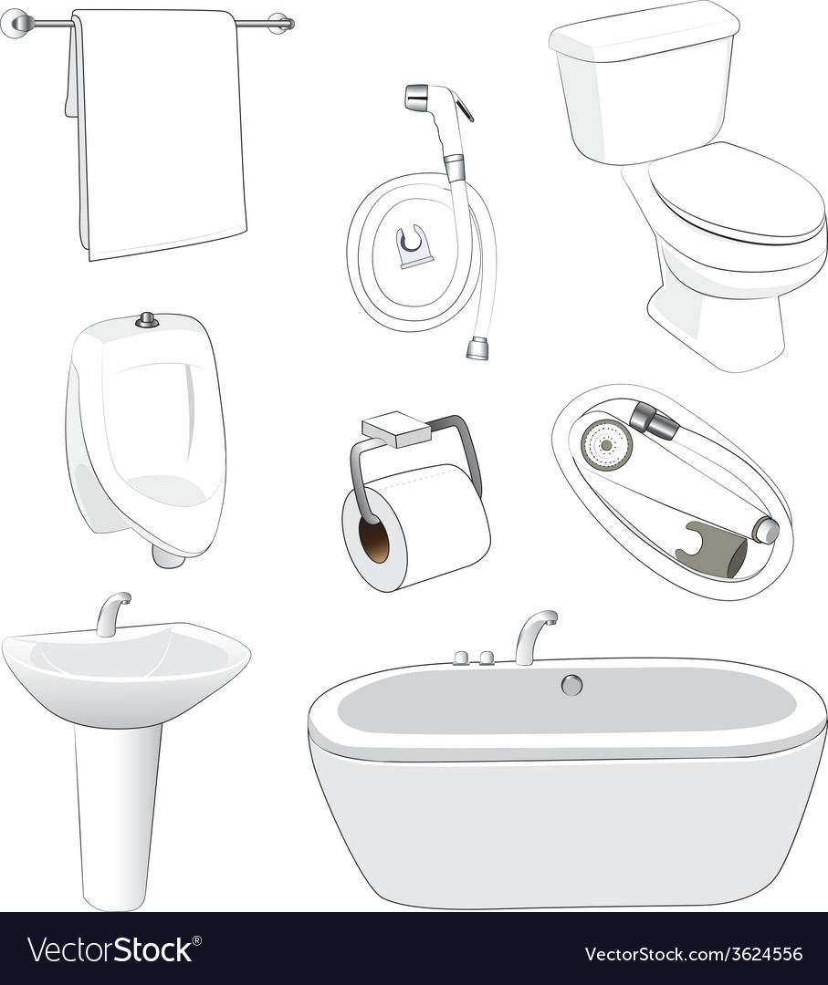 Sanitary ware bathroom vector | Price: 1 Credit (USD $1)