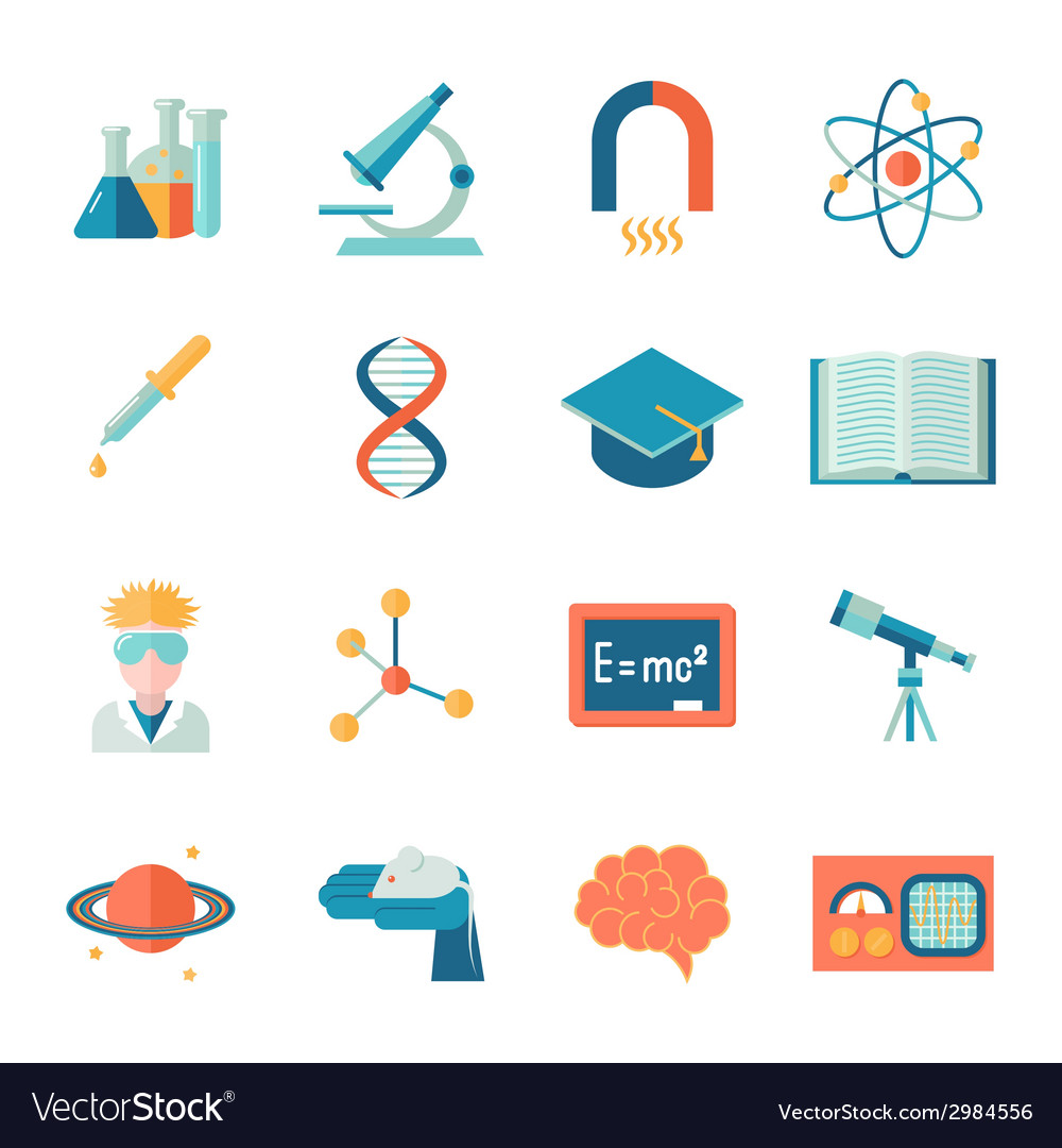 Science and research icon flat vector | Price: 1 Credit (USD $1)