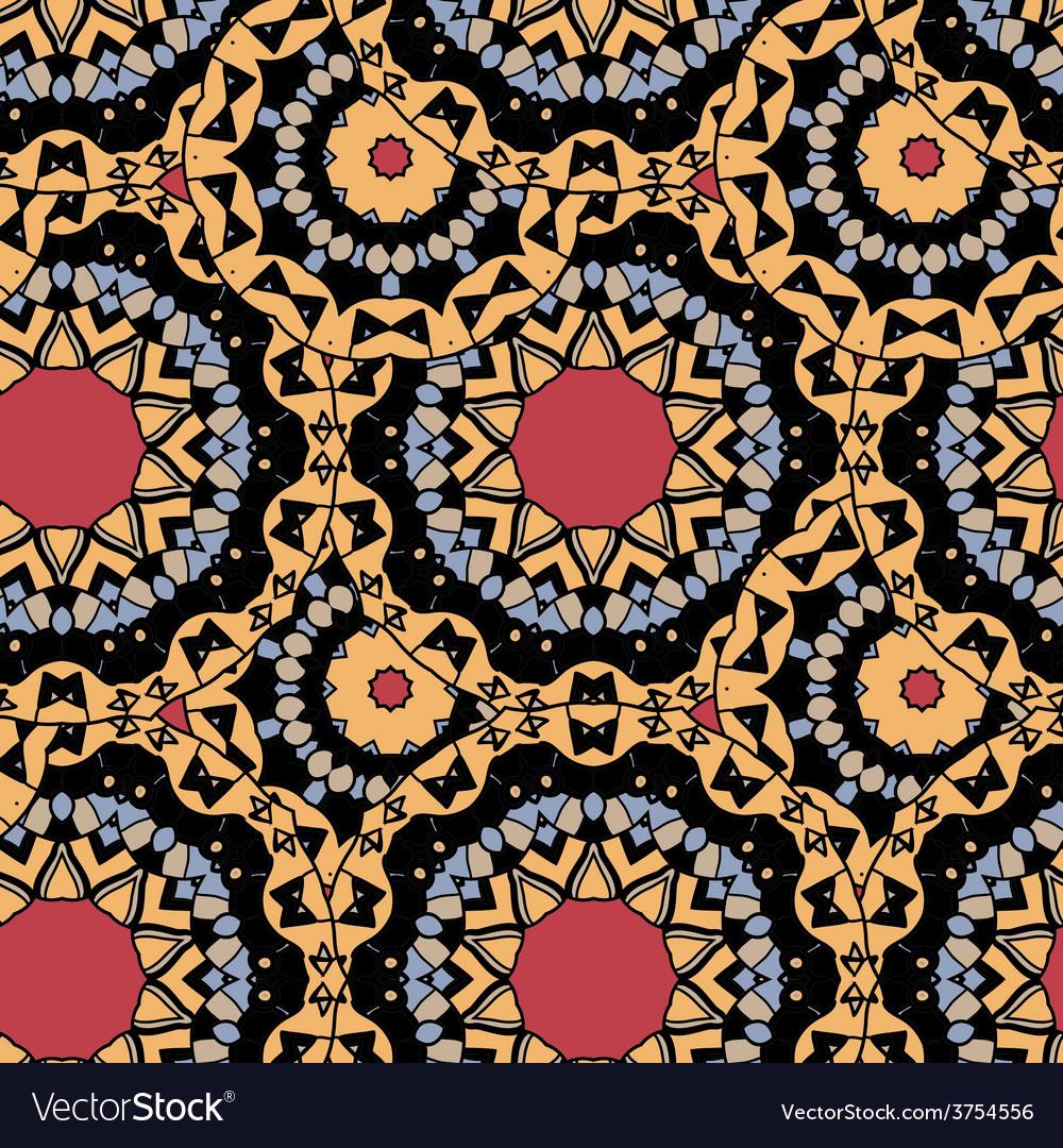 Seamless tribal wallpaper endless tiles vector | Price: 1 Credit (USD $1)