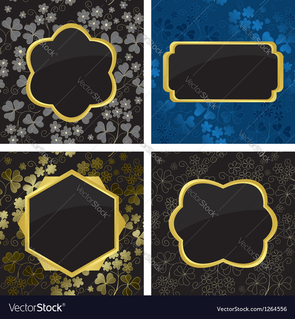 Set of card with geometric frames vector | Price: 1 Credit (USD $1)