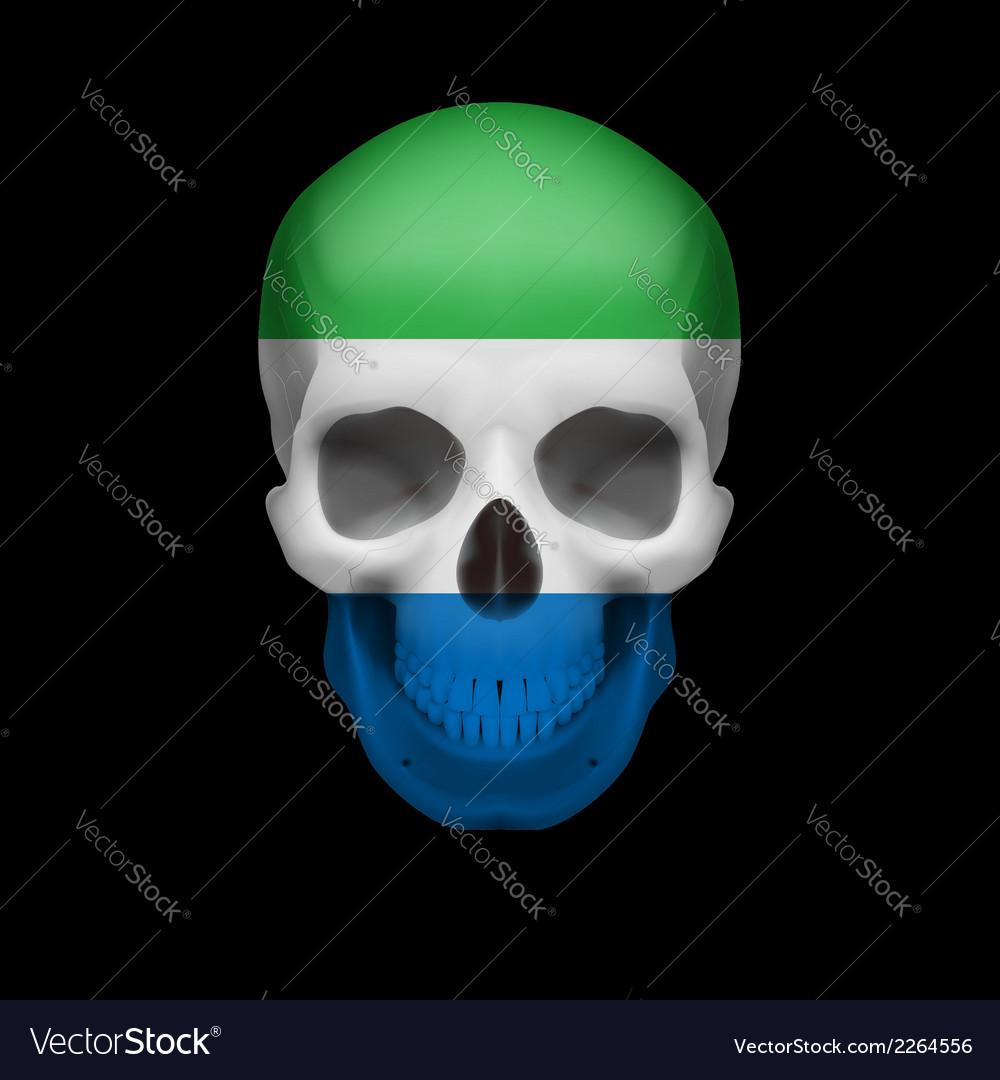 Sierra leone flag skull vector | Price: 1 Credit (USD $1)