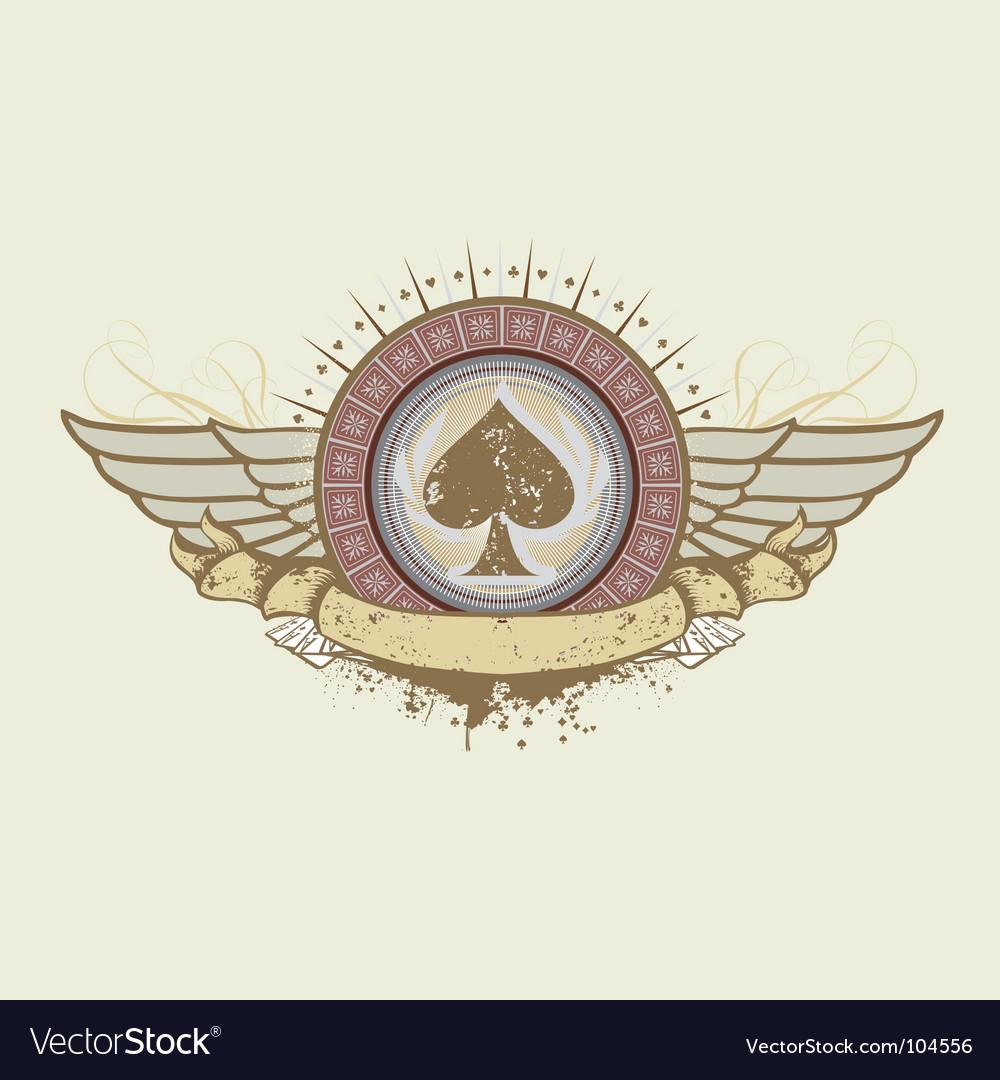 Spades suit emblem vector | Price: 1 Credit (USD $1)