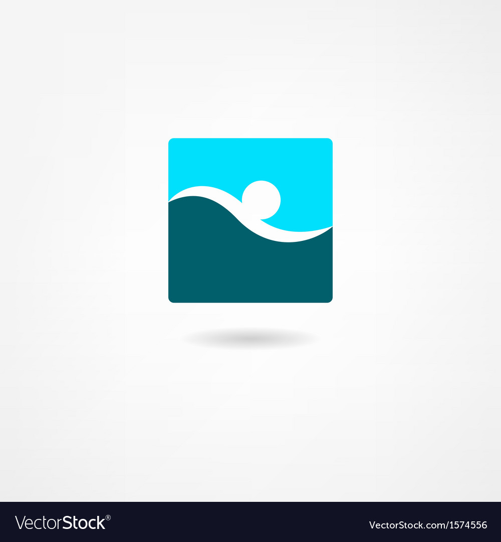 Swimmer icon vector | Price: 1 Credit (USD $1)