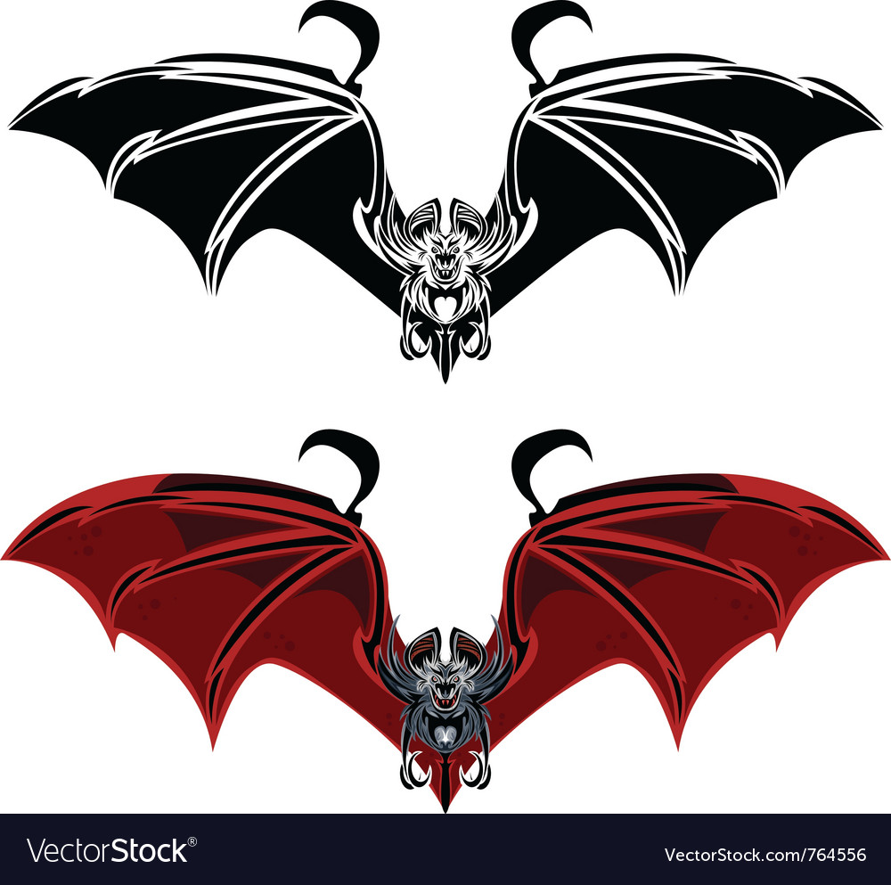 Vampire bat vector | Price: 1 Credit (USD $1)