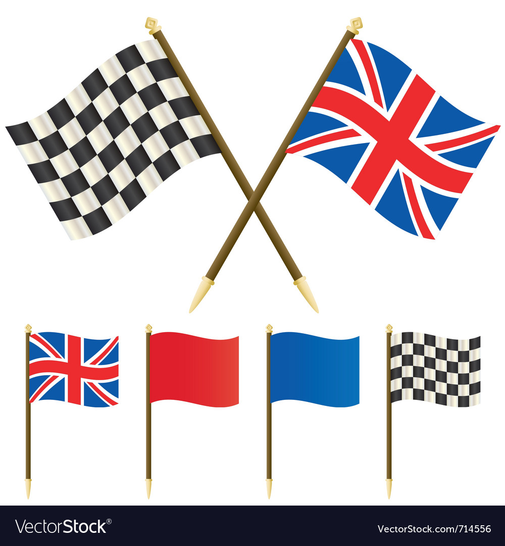 Winners flags vector | Price: 1 Credit (USD $1)