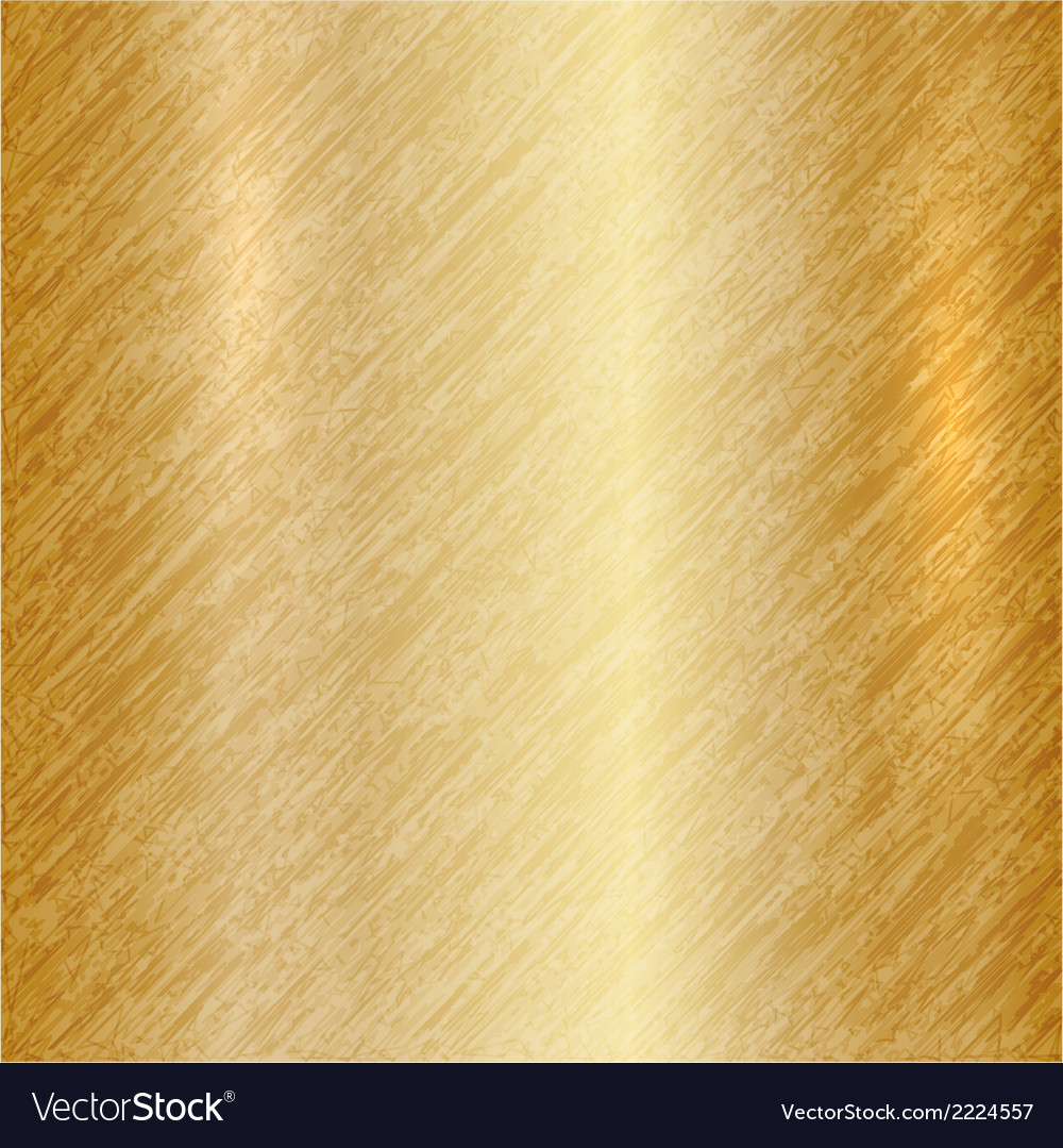 Abstract metallic gold background vector
